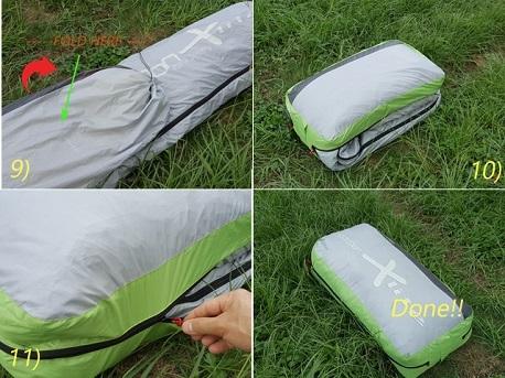 Para Supply paragliding cocoon Xlite Z concertina bag fast packing bag packing instruction 8.jpg